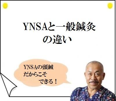 YNSAと一般鍼灸の違い